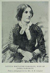 Letitia MacTavish-Hargrave
