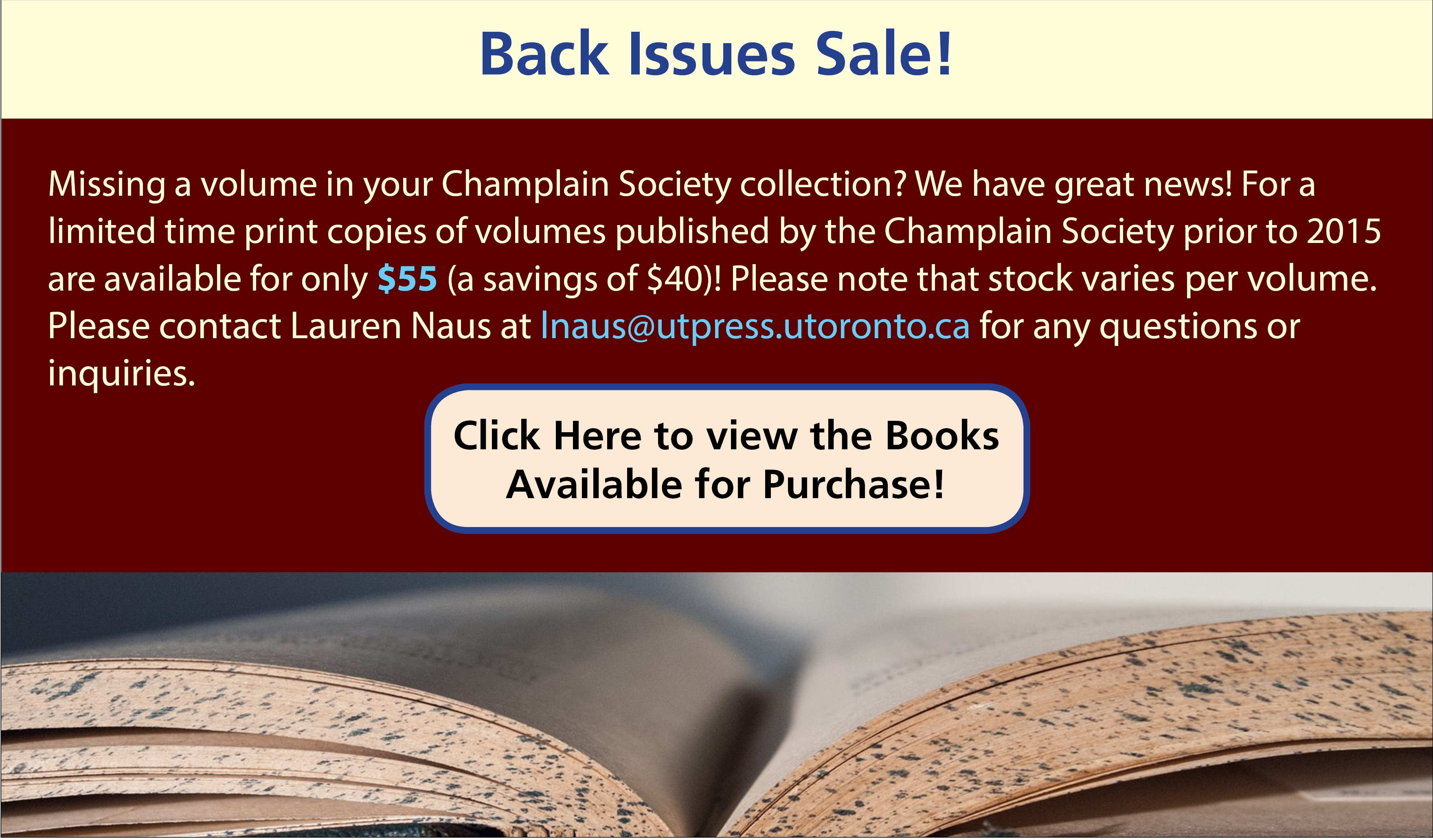 Champlain Back Issue Sale 2015_2016
