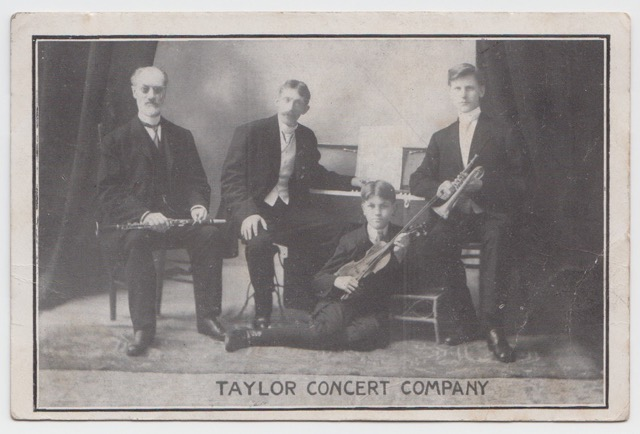 Taylor Concert Co postcard scan